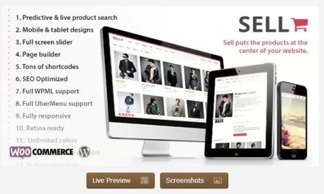 sell e commerce  theme